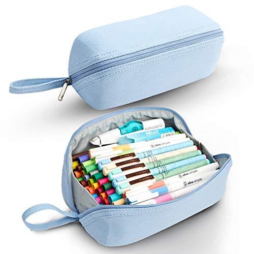 KALIDI Federmäppchen Mäppchen Unisex Stiftemappe Stiftetasche Pencil Case Mädchen Teenager (blau)