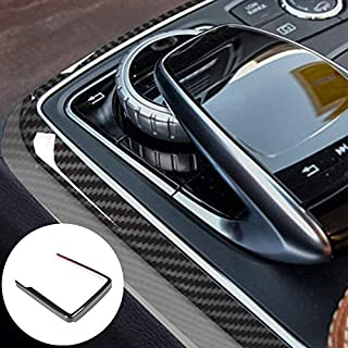 HOTRIMWORLD ABS Carbon Fiber Style Center Console Gear Box Multimedia Frame Trim Cover for Mercedes-Benz GLE W166 Coupe C292 2015-2019