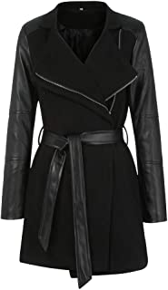 Best plus size leather sleeve trench coat Reviews