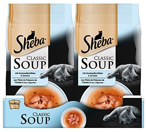 Sheba Gatto Fodera Classic Soups 12 Confezioni (12 X 4 X 40 G)
