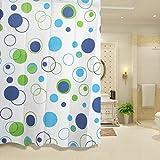 puak523Wasserdicht Duschvorhang, 180x 200cm Schimmelresistent Badezimmer Dusche Vorhang Haken 6Muster wählen, Wie abgebildet, Blau