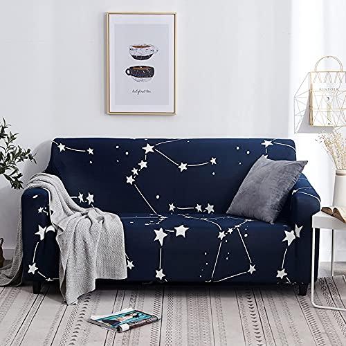 WXQY Cubierta de sofá Cubierta de sofá elástica Cubierta de sofá de impresión Toalla de Sala de Estar Cubierta de protección de Muebles a Prueba de Polvo Cubierta de sillón A22 3 plazas