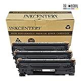 Ink Centery - Pack de 3 tóners compatibles con HP CE285A, CRG725. Color negro, capacidad de impresión 1.600 páginas
