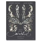 DrCor Posters ¡Madre!2017 película película Javier Bardem Cartel artístico Lienzo Pintura decoración del hogar-20x28 Pulgadas sin Marco 1 Uds