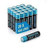 POWERADD Batterie Alcaline AAA Confezione da 20 Pile Stilo AAA da 1.5V