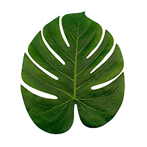 Artificial and Dried Flower Artificial Tropical Palm Leaf Decor Jungle Party Artificial Leaves Fake Decorations Party Summer Beach Wedding Supplies