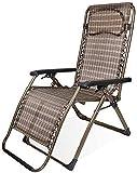 LZMXMYS Silla de salón al aire libre, sillas de jardín Tumbona cubierta plegable Silla Tumbona reclinable Sillón, la gravedad cero Patio de descanso de jardín al aire libre plegable portátil Playa Cam
