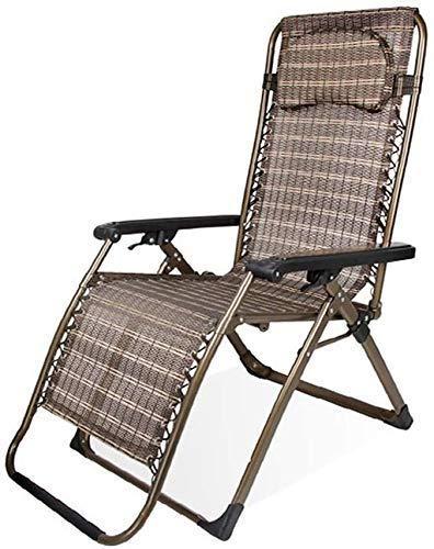 LZMXMYS lounge chair outdoor,Sun Lounger Garden Chairs Foldable Deck Chair Sun Lounger Recliner Armchair, Zero Gravity Patio Reclining Garden Outdoors Folding Portable Beach Camping Lounge Chair