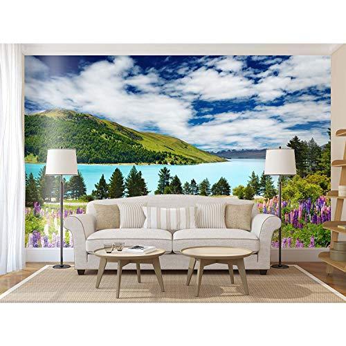 Startonight Papier peint photo d'art Tapis de fleurs à mer, image murale grande taille Forma Tige moderne Motif art décoratif mural 256 x 366 cm