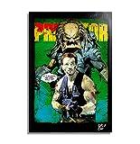 The Predator (Depredador, 1987) - Pintura Enmarcado Original, Imagen Pop-Art, Impresión Póster, Impresion en Lienzo, Cuadro, Cómics, Cartel de la Película
