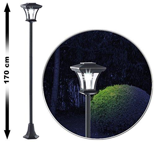 Preisvergleich Produktbild Royal Gardineer Solar Wegeleuchte: Solar-LED-Gartenlaterne SWL-20,  0, 18 Watt,  12 Lumen,  IP44,  170 cm hoch (Laterne Solar)