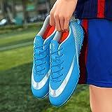 XRDSHY Zapatillas de Fútbol Hombre Spike Aire Libre Profesionales Atletismo Training Botas de Fútbol Hombre Zapatillas de Deporte,Blue-39 EU