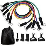 Fitness Bänder,CUXUS Resistance Bands Widerstandsband Set,5 Widerstands Band,Griffe,Türanker &...