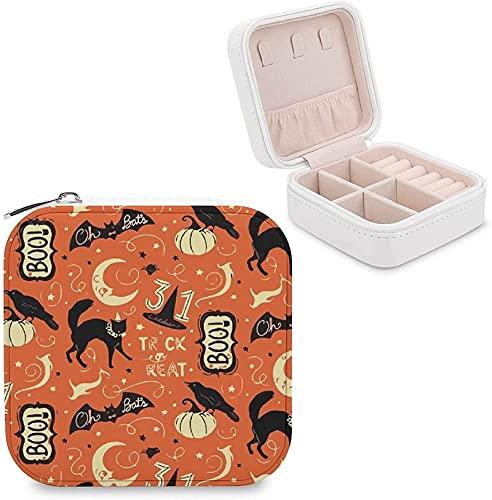 Mini scatola di gioielli per le donne vintage Halloween stile gatto cappello gioielli scatola di immagazzinaggio fascino scatola titolare orecchino collana bracciale anello organizzatore