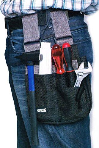 Spear® Arbeitstasche - vielseitig, hochwertig und strapazierfähig - Werkzeugtasche / Gürteltasche Schwarz