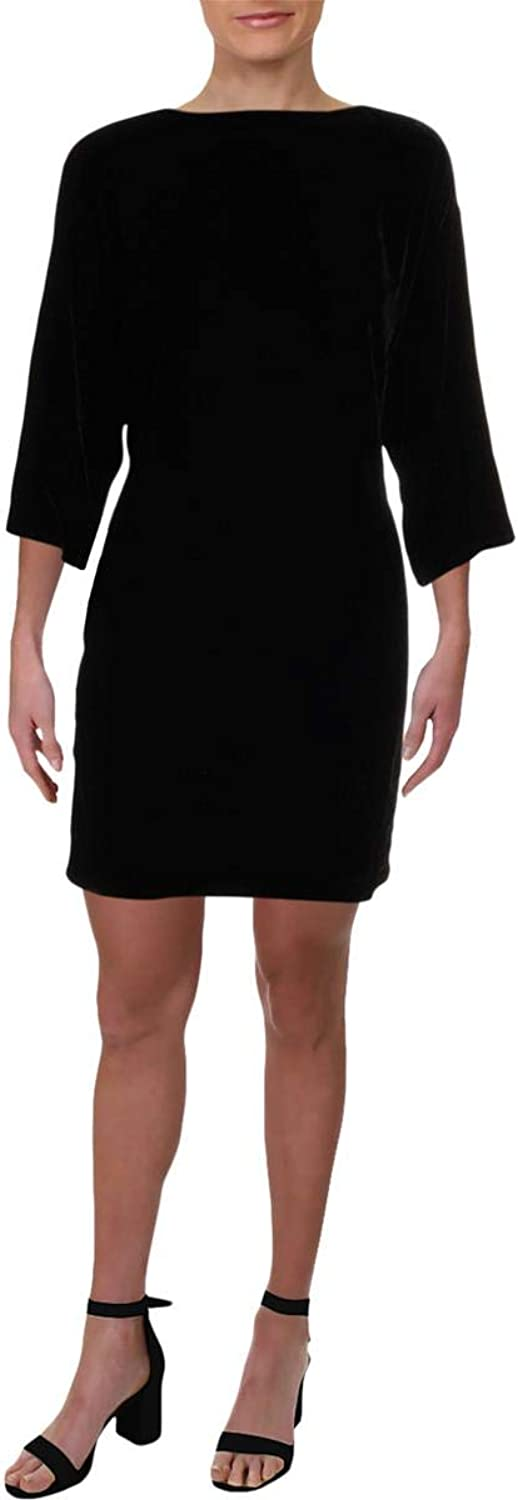 EileenFisher Womens Velvet Solid Party Dress