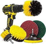Juego de 6 cepillos para taladro, para taladro, atornillador inalámbrico, cepillo, fijación de cepillo para taladro, kit de limpieza de coche, cocina, azulejos, alfombras (taladro no incluido)
