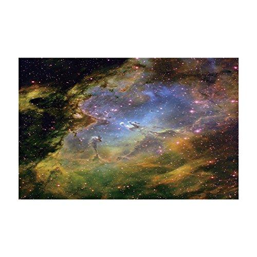 YOKOU Dekorative Hintergrund Poster Aquarium Hintergrund Statische Tapete Aufkleber, Mystic Starry Sky, 29.5
