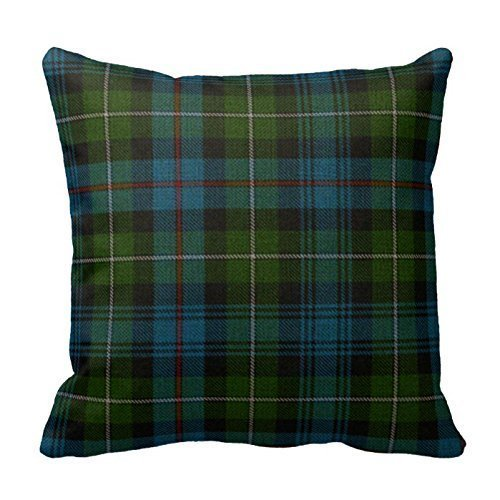 Caps big Polyester Home Decorative Traditional Mackenzie Tartan Plaid 18 x 18 Inches