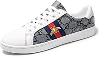 Men's Classic Canvas Shoes Fashion Bee Embroidered Sneakers