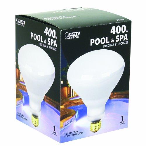 Feit Electric 400R/FL 400-Watt R40 120-Volt Pool, Spa, Jacuzzi Incandescent Flood Reflector, 400 Watt, Soft White 120 Volt
