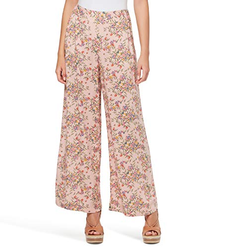Jessica Simpson Women's Plus Size Saydee Stylish Pull On Wide Leg Pant, Fairy Florals, 1X