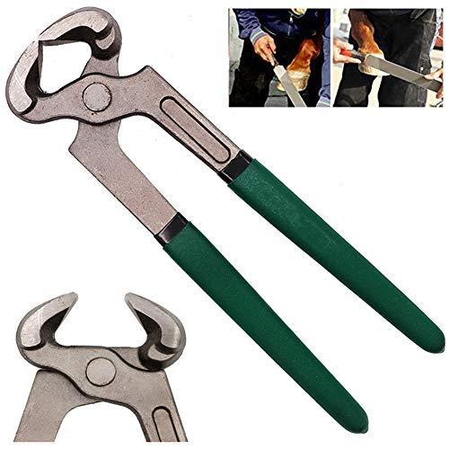 Rong-- Herramientas de Herradura, Alicates para Caballos, 7.8In Alicate de Corte de Pezuña de Acero Cortador de Herrajes para Ajuste de Pezuñas de Limpieza de Uñas