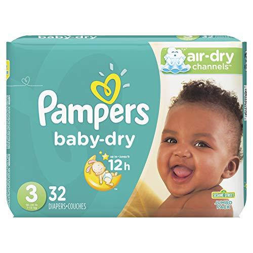 Price comparison product image Pampers Baby-Dry Diapers Size 3 32 Count (Packaging May Vary)