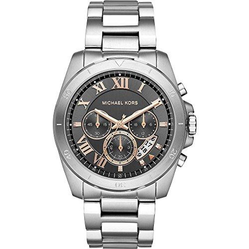 Michael Kors Herren Analog Quarz Uhr mit Edelstahl Armband MK8609