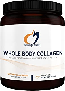 Designs for Health Whole Body Collagen Powder - Pure Collagen Peptides Supplement for Bone, Skin + Joint Support - Flavorl...