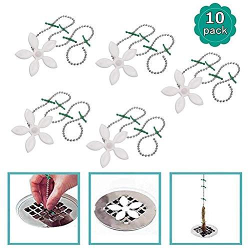 Macabolo 10 Stück Blume Abfluss Spüle Haarfilter Kettenhaken Küche Abfluss Spüle Spülbecken Entferner für Bad Küche