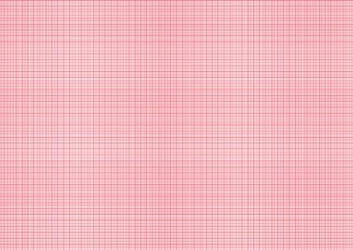 LYSCO Millimeterpapier Block DIN A2 (594 x 420 mm) 25 Blatt, links + rechts verleimt (rot)