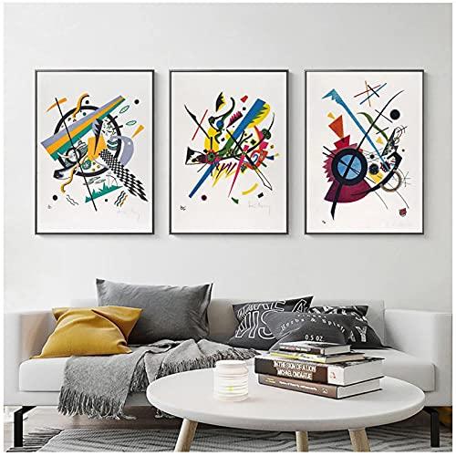 40x60cm x3Pieces SIN Marcohogar Cuadros decoracionPóster de Wassily Kandinsky Aesthetic Nordic Abstract pósterCuadros para dormitorios Modernos