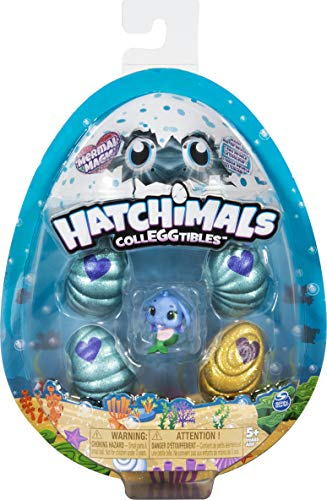 Hatchimals CollEGGtibles, Mermal Magic 4 Pack + Bonus with Season 5 Hatchimals, for Kids Aged 5 and Up (Styles May Vary)