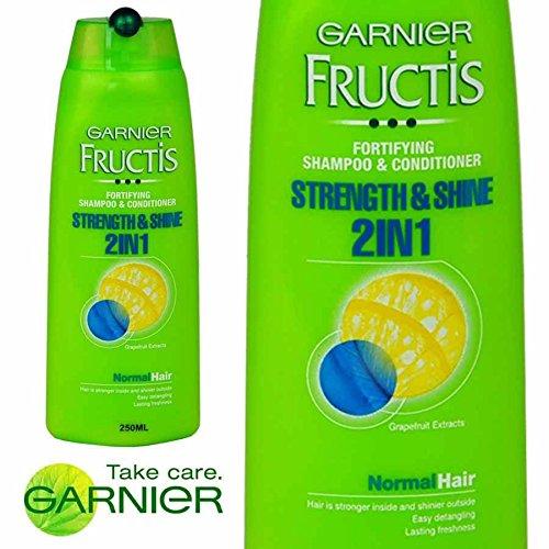 6X Garnier Fructis Strength & Shine 2in1fortifying Shampoo e Balsamo 250ML