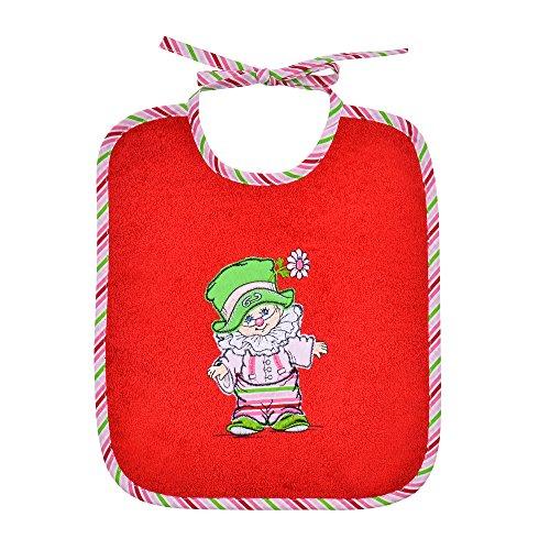 Mauz by wörner bébé clown rouge bavoirs, serviettes de bain et gant poncho peignoir, rouge, Binde-Lätzchen 25x30cm