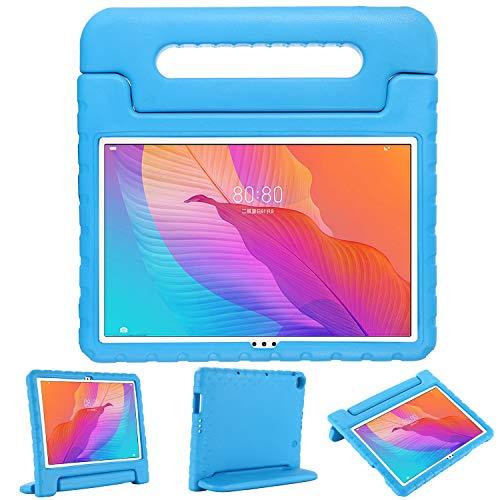 XunyLyee Funda infantil Compatible co Huawei MatePad T10/ T10S, peso ligero y a prueba de golpes con mango de EVA funda protectora para Huawei MatePad T10S/ MatePad T10, Azul