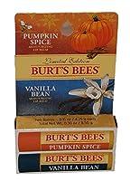 Burts Bees Limited Edition Combo Pack Pumpking Spice & Vanilla Bean Lip Balm by Burt