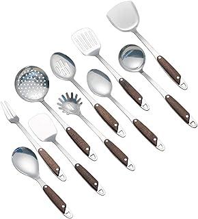 Idomy 10-Piece Stainless Steel Kitchen Gadgets Cookware Set