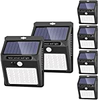 SEZAC Solar Lights Outdoor Motion Sensor 120° Wide Angle Detection A-6 Pack