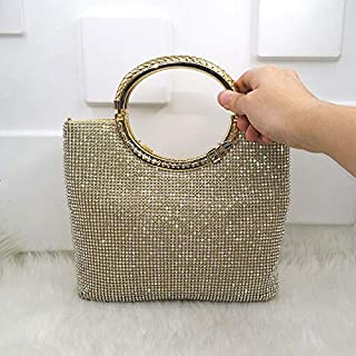 HHdstb Kristall Diamant Elegante Kupplung Frauen Braut Hochzeit Brieftasche Geldbörse Abend Party Tasche Gold/Silber/Schwarz Handtasche