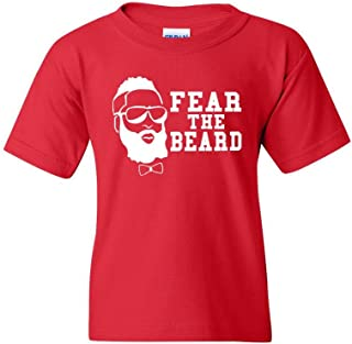 Fear The Beard Basketball Sports Houston Novelty Youth Kids T-Shirt Tee