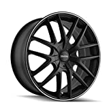 TOUREN TR60 (3260) BLACK Wheel with Matte MACHINED Ring (0 x 7.5 inches /5 x 100 mm, 42 mm Offset)