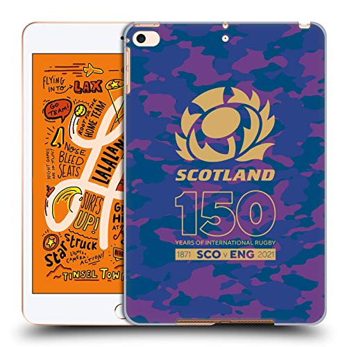 Official Scotland Rugby Camouflage 150th Anniversary Hard Back Case Compatible for Apple iPad mini (2019)