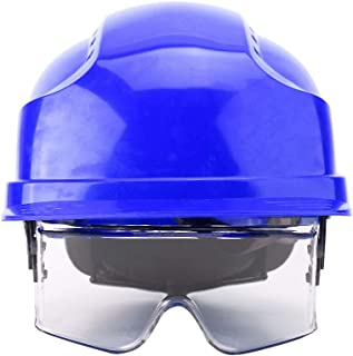 Safety Hat, Hard Safety Helmet with Goggles for Eye Protection Suitable for Construction Workers(Blue)