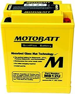 MotoBatt AGM Battery 1988-90 Yamaha FZR 400 1980-83 XS 400 1983 XV 500 Virago