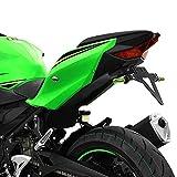 Kennzeichenhalter KAWASAKI Ninja 400 Bj. 18- verstellbar schwarz inkl. Reflektorhalter Motorrad...