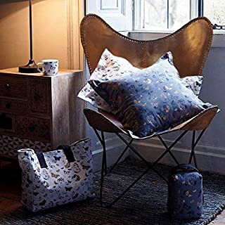 brown leather armchair butterfly