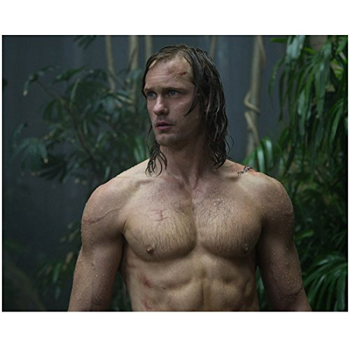 The Legend of Tarzan (2016) 8 inch by 10 inch PHOTOGRAPH Alexander Skarsgard from Waist Up No Shirt Head Turned Right kn