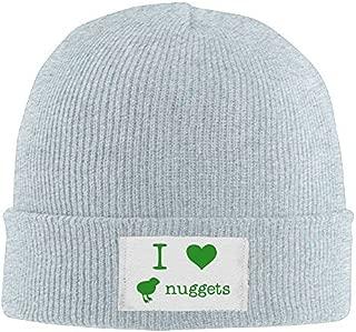 I Love Chicken Nuggets Men's Stretch Fleece Skull Beanie Hat Printed Cherished Knit Fleece Hat